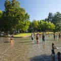 The wading pool in between the East and West Green Lake beaches.- East + West Green Lake Beach + Swimming Area