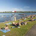 West Green Lake beach and swimming area.- East + West Green Lake Beach + Swimming Area