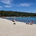 Meeks Bay Beach.- Meeks Bay Beach