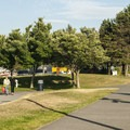 The Alki Tral through Seacrest Park.- Seacrest Park