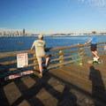 Fishing from the Seacrest Park Pier.- Seacrest Park