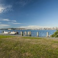 View of Seattle from Duwamish Head along the Alki Trail.- Alki Trail