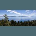 Panoramic vista of Lake Tahoe from Eagle Rock.- Eagle Rock
