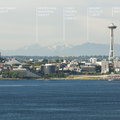 View of the Seattle Space Needle and Seattle Center from Hamilton Viewpoint Park.- Hamilton Viewpoint Park