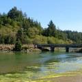 Bridge over the entrance to Lint Slough.- Lint Slough