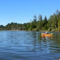 Kayaking up Lint Slough.- Lint Slough