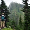 Looking up at Dock Butte (5,200').- Dock Butte Hike