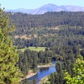The Wenatchee River from Icicle Ridge.- Icicle Ridge Trail