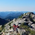 Panoramic views from the top of Labyrinth Mountain.- Minotaur Lake
