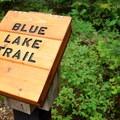 Blue Lake trail register.- Blue Lake