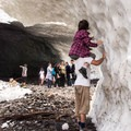 Getting a closer look at the ice.- Big Four Ice Caves
