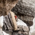 Bouldering near the Big Four Ice Caves.- Big Four Ice Caves