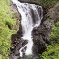 The power of the lower section of middle falls against the rock.- Wallace Falls + Lake via Greg Ball Trail