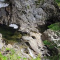 Middle falls creating a pool of water- Wallace Falls + Lake via Greg Ball Trail