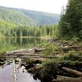 Wallace Lake from north end.- Wallace Falls + Lake via Greg Ball Trail