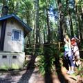 Vault toilets on the trail to Wallace Lake.- Wallace Falls + Lake via Greg Ball Trail