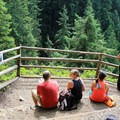 The valley lookout has plenty of room for seating.- Wallace Falls + Lake via Greg Ball Trail