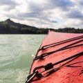 Sea kayaking on Alder Lake.- Alder Lake