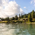 The small community of Reliance.- Alder Lake