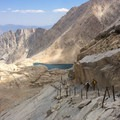"Mount Whitney's infamous ""99 Switchbacks.""- Mount Whitney: Mountaineers Route"