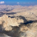 Summit view from Mount Whitney.- Mount Whitney: Mountaineers Route