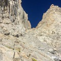 Looking up at the Mountaineers Route.- Mount Whitney: Mountaineers Route