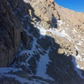 "The begining of the section known as ""The Notch.""- Mount Whitney: Mountaineers Route"
