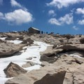 The summit of Mount Whitney (14,505').- Mount Whitney: Mountaineers Route