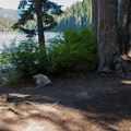 One of several campsites on the lake.- Lake Dorothy