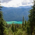 Waptus Lake from the ridge above, Summit Chief in the background.- Spade Lake