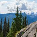 Bears Breast Mountain in the distance.- Spade Lake