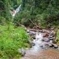 One of many creek crossings.- Spade Lake