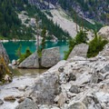 First view of the Spade Lake.- Spade Lake