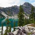 Spade Lake and the surrounding ridges.- Spade Lake