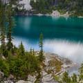 Deep turquoise alpine water in Spade Lake.- Spade Lake