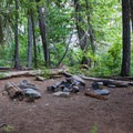 Campsite on the river.- Waptus River to Waptus Lake