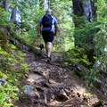 Some sections of the Mount Catherine Trail are steep.- Mount Catherine