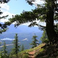 Little Kachess Lake from the Easton Ridge Trail.- Easton Ridge Trail