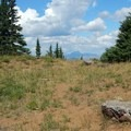 Only bits of foundation remain from the old lookout site.- Scott Mountain