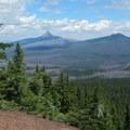 Looking north to the pointy Mount Washington (7,795').- Scott Mountain