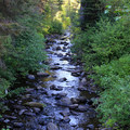 Swauk Creek runs along the highway near Mineral Springs Campground.- Mineral Springs Campground