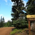 The Red Top Trailhead before the parking area.- Red Top Lookout