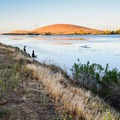 Shoreline fishing on the San Luis Reservoir's O'Neill Forebay.- San Luis Creek Campground