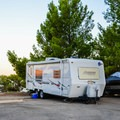 Typical RV site at San Luis Creek Campground.- San Luis Creek Campground