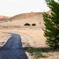 One section of the 5-mile recreation trail that surrounds the reservoir.- San Luis Creek Campground