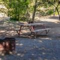 A shady site at San Luis Creek Campground.- San Luis Creek Campground