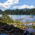 Shores of Bear Lake.- Snoqualmie Lake
