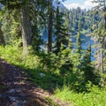 First views of Snoqualmie Lake.- Snoqualmie Lake