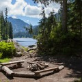 Camping at Snoqualmie Lake.- Snoqualmie Lake