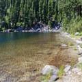 Beach on the lake.- Snoqualmie Lake